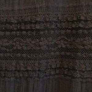 White House Black Market Tops - WHBM feminine navy blue 3/4 sleeve lace top.